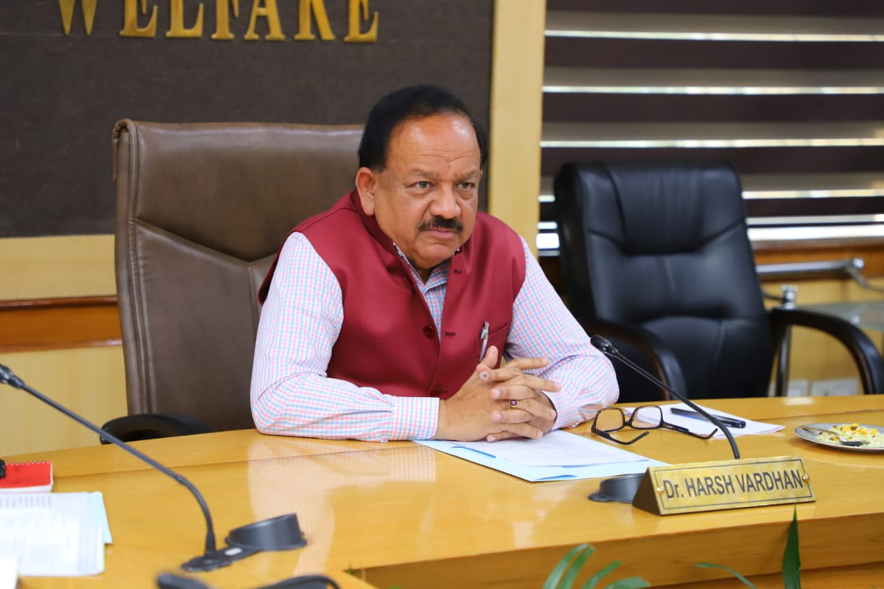Photo courtesy: Twitter/@drharshvardhan