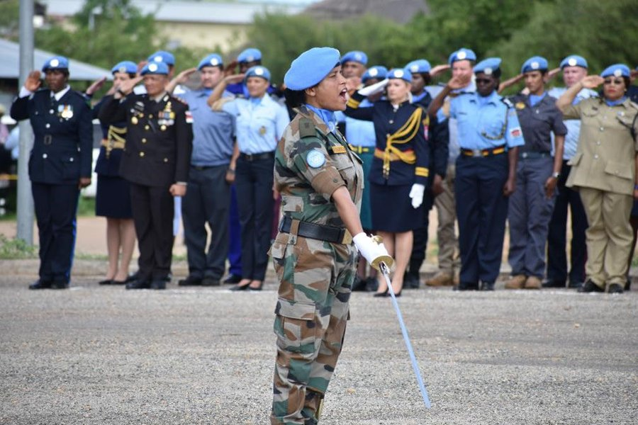 Major Suman Gawani is the first Indian to receive the United Nations Military Gender Advocate of the Year Award. Photo courtesy: Twitter/@UNinIndia
