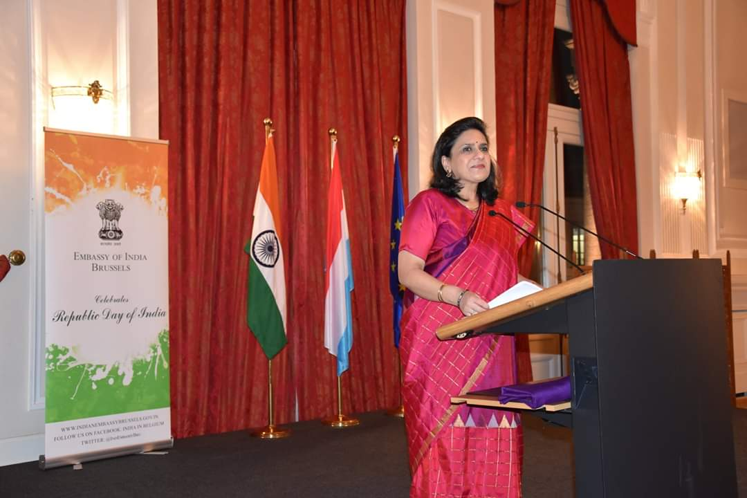 1986-batch Indian Foreign Service officer Gaitri Kumar has been appointed as India's next High Commissioner to the UK. Photo courtesy: Facebook/India in Belgium