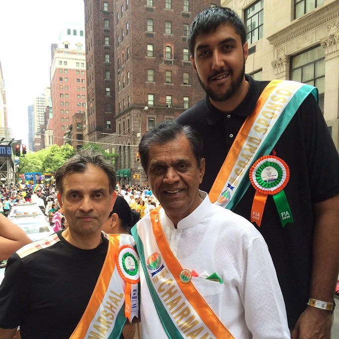 Patel was a moving force behind the New York City's India Day Parade, held every August in New York City