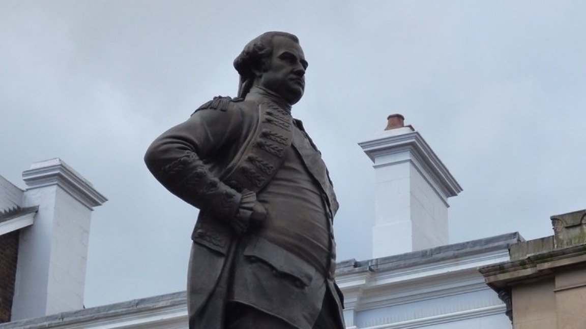 A petition has been started for the removal of a statue of British colonialist Robert Clive from Shrewsbury, England. Photo courtesy: change.org