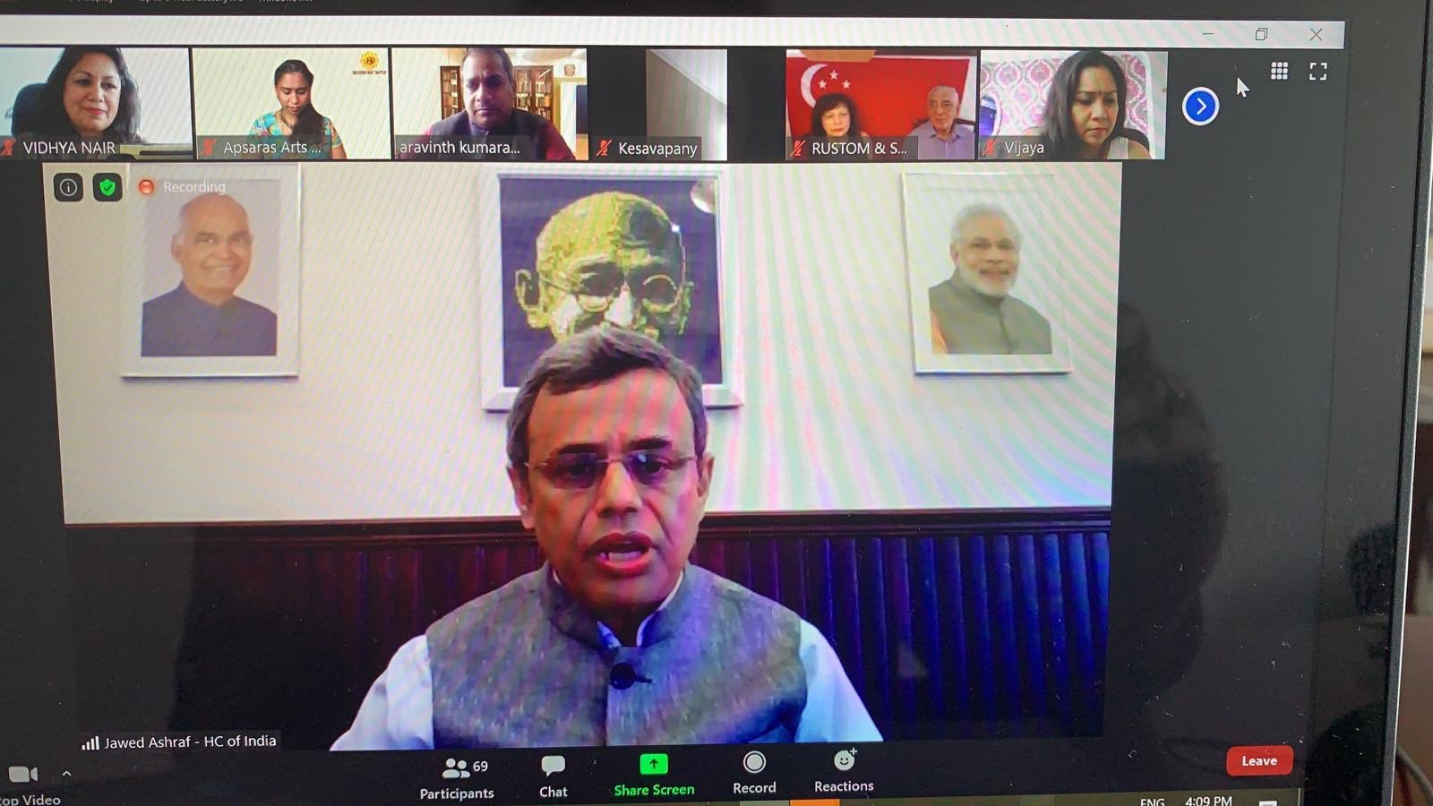 As part of a series of webinars during the #InternationalYogaDay2020 High Commissioner  @JawedAshraf5  spoke in 90-minute session on why India's cultural heritage has enduring value and a growing following globally.