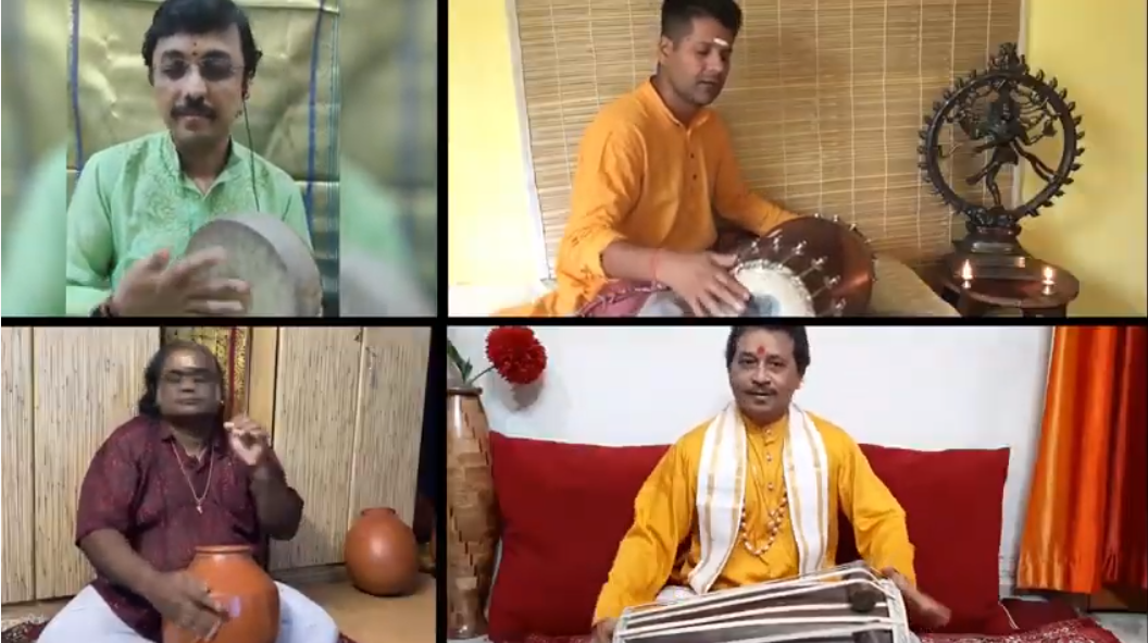 Four Sangeet Natak Akademi awardees are featured as is Violin Maestro, Dr. Mysore Manjunath who has conceptualized & composed the music for 'Life Again'. Photo Courtesy: Screenshot of video