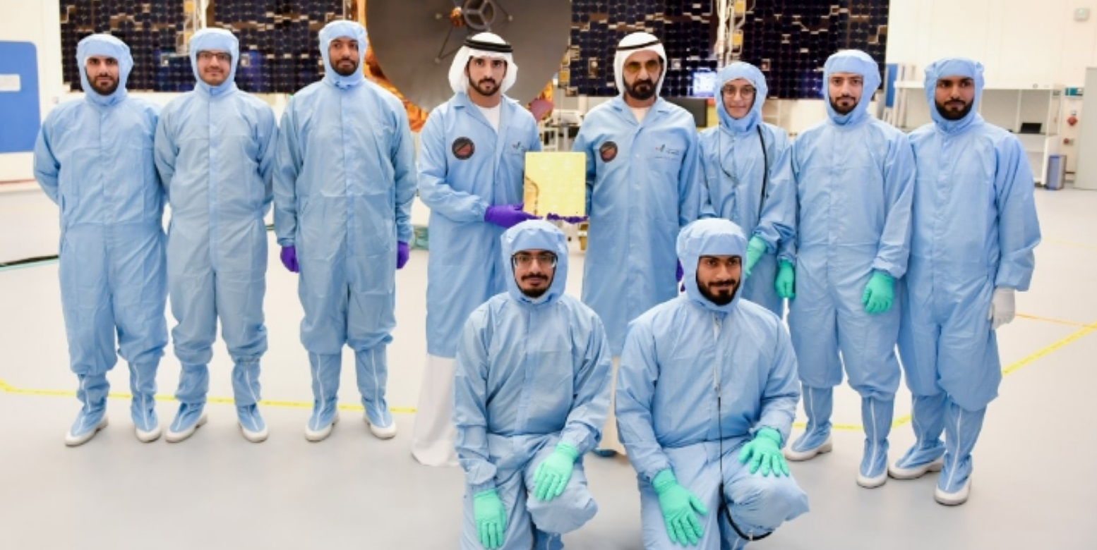 .The launch is the culmination of efforts of a large team of young Emirati, comprising 200 engineers, experts and researchers. Photo Courtesy: Twitter