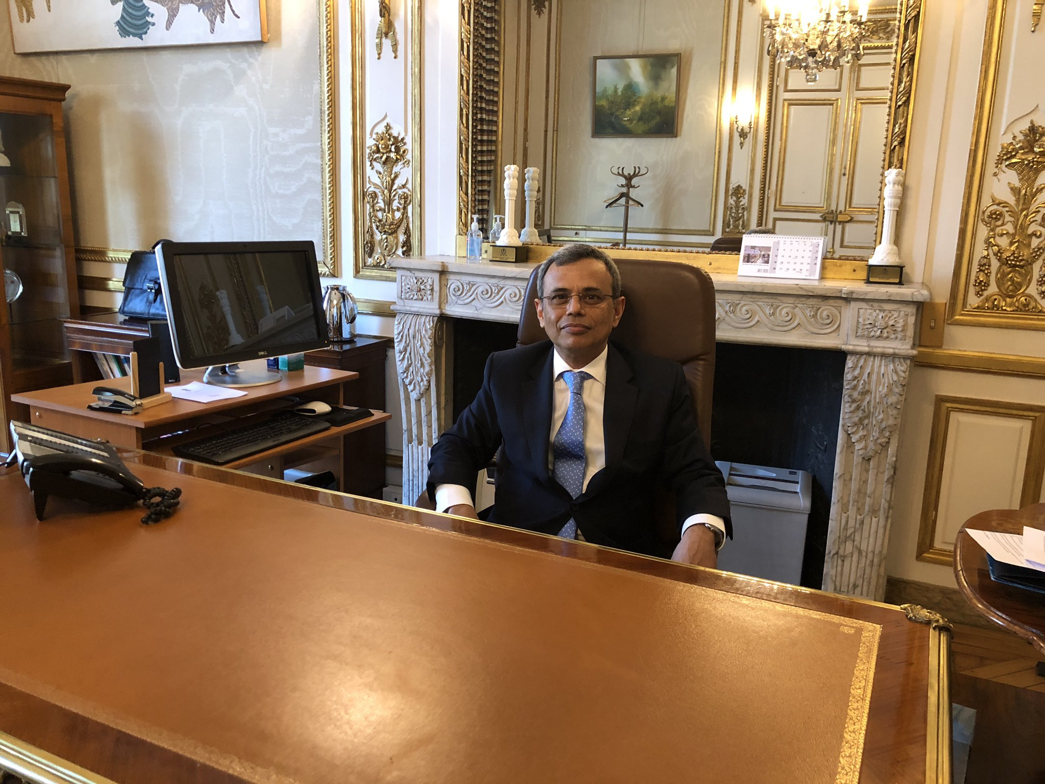HE Jawed Ashraf has formally taken charge as Indian ambassador to France. Photo courtesy: Twitter/@JawedAshraf5