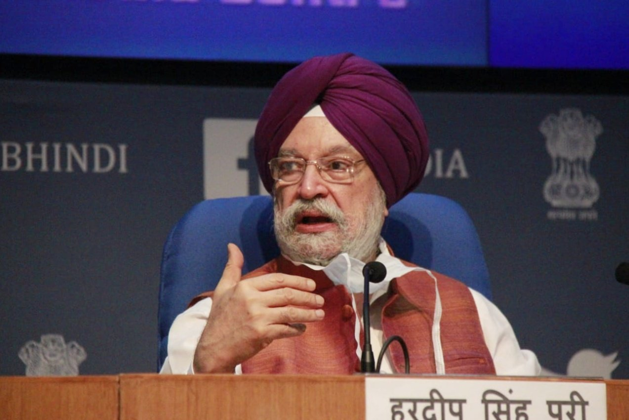 Indian Civil Aviation Minister Hardeep Singh Puri