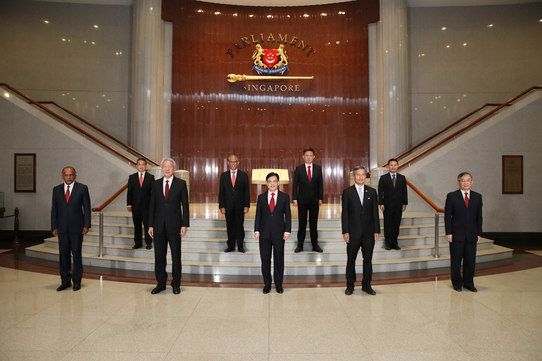 Newly sworn in Cabinet Ministers at Parliament House. Photo courtesy: MCI