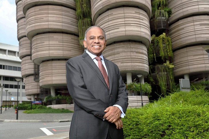 Professor Subra Suresh, President of NTU, has been unanimously selected by the Board of Governors of the American Society of Mechanical Engineers (ASME) to receive its highest honour, the 2020 ASME Medal. Photo courtesy: NTU