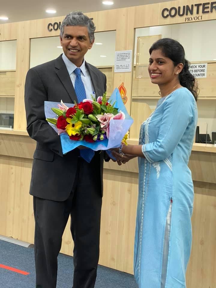 Welcomed High Commissioner designate P. Kumaran