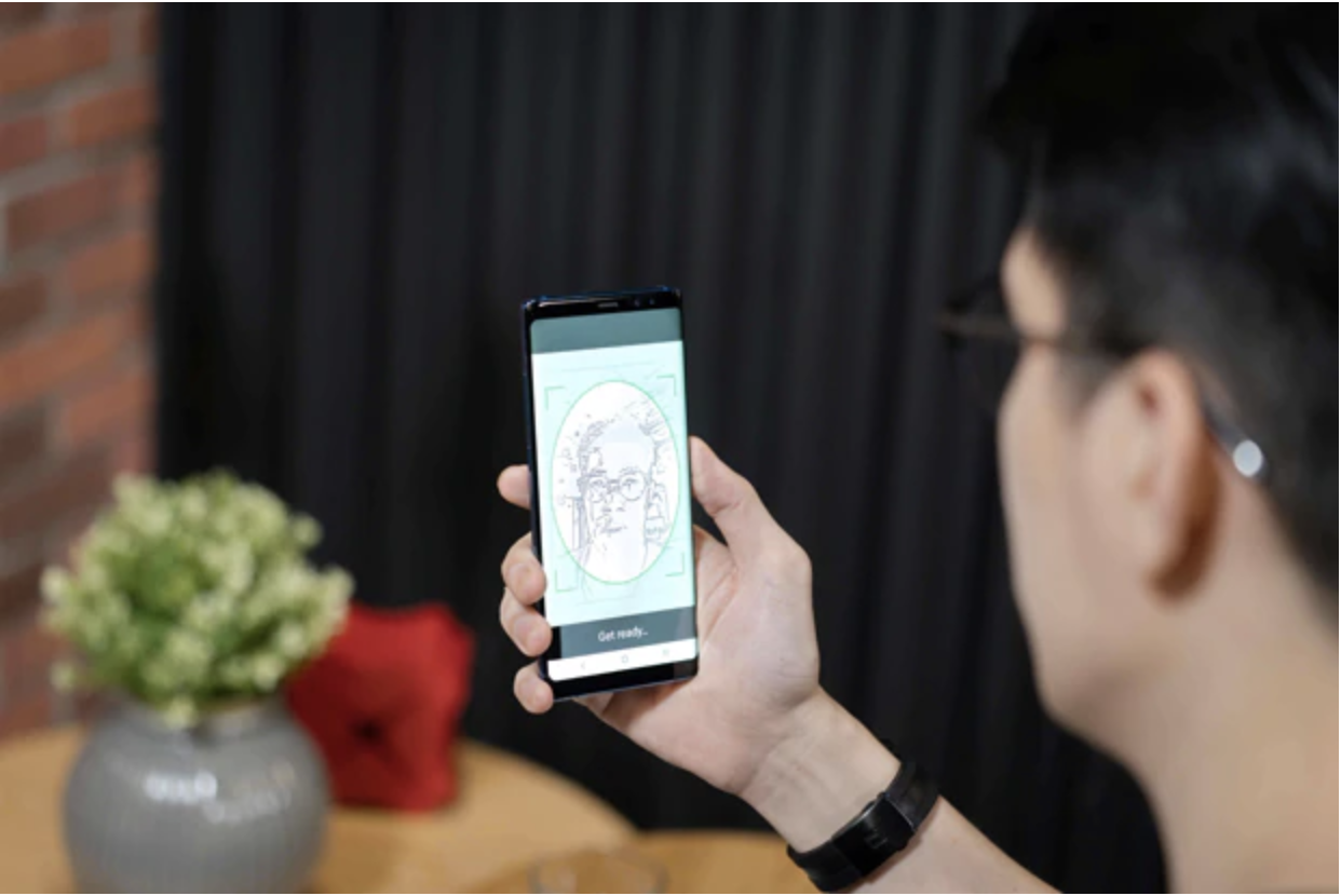 DBS has partnered with the GovTech to pilot the latter's innovative SingPass Face Verification technology, to enable Singapore citizens and Permanent Residents to sign up for DBS' digital banking services from their homes, with instant access to their bank accounts and banking services. . Photo courtesy: DBS