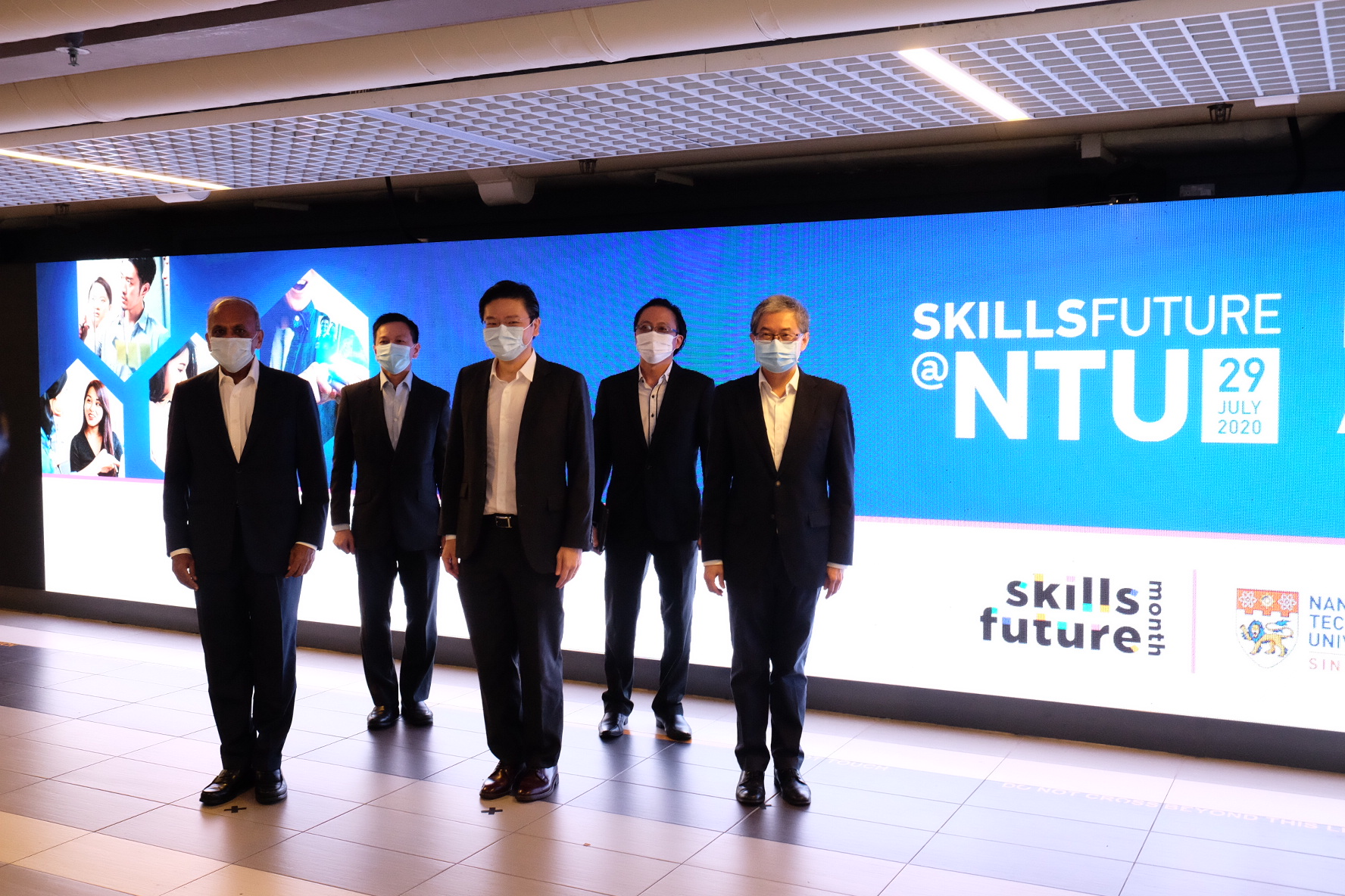 The launch of SkillsFuture@NTU was graced by Education Minister Mr Lawrence Wong - his first visit to NTU after his recent appointment. Photo courtesy: NTU