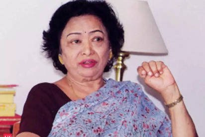 The 'Human Computer', Shakuntala Devi. Photo Courtesy: Twitter