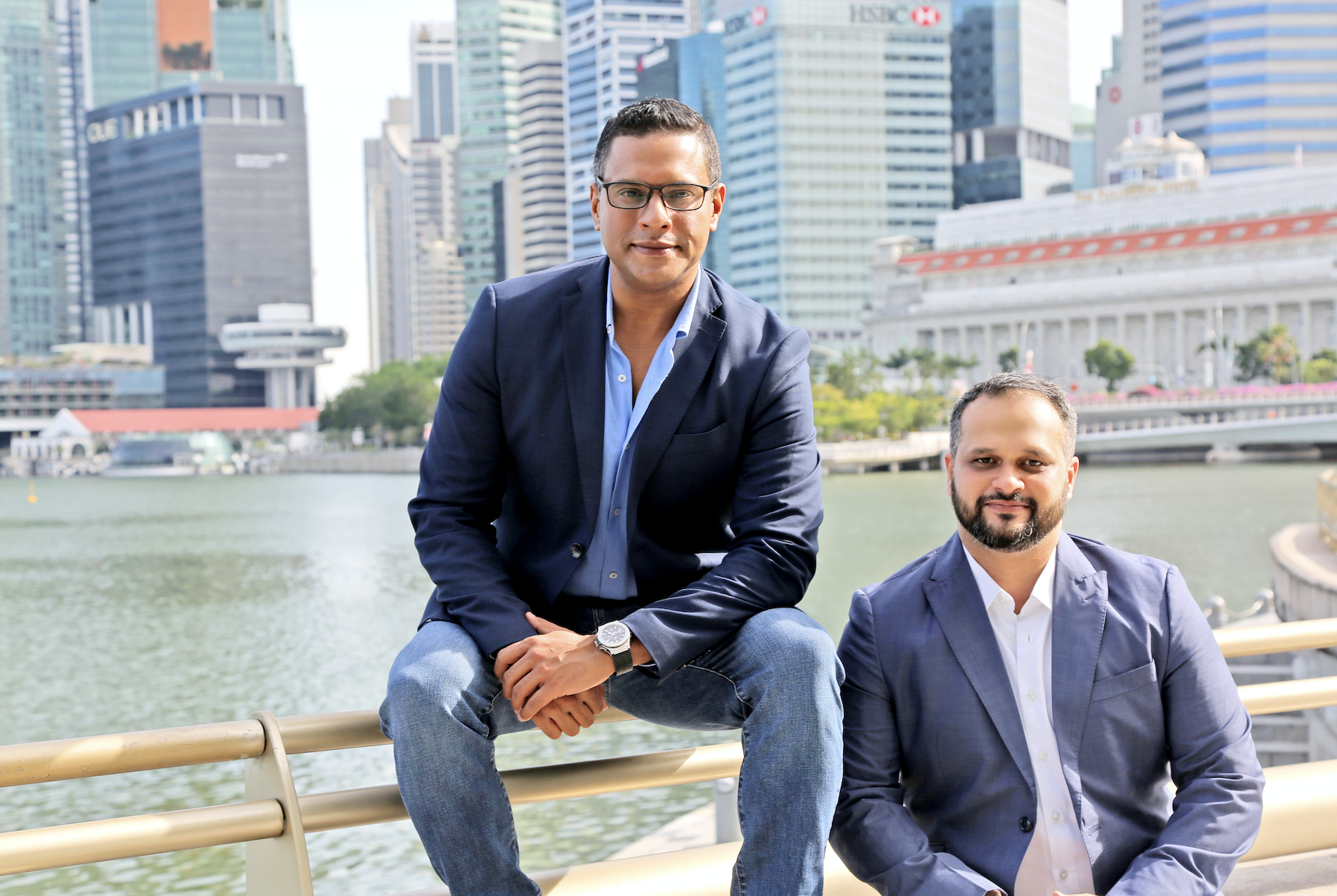 Singapore-based NRI media entrepreneurs & co-founders of VMAC, Saurabh Gupta and Abhayanand Singh. Photo courtesy: VMAC