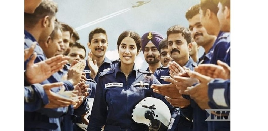 Gunjan Saxena - The Kargil Girl is the story of a woman who before the war in the battlefield of Kargil, had to fight one on the ground to be accepted as a fighter pilot despite being a woman. Photo Courtesy: Twitter