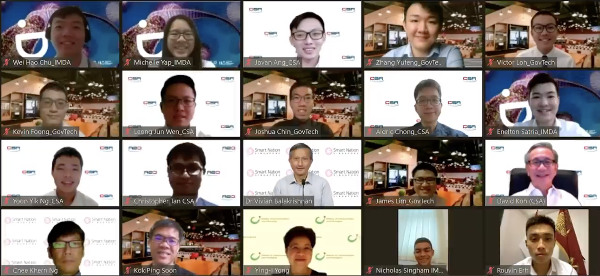 Dr Vivian Balakrishnan addressed the 15 recipients of this year's Smart Nation Scholarship individually at the virtual engagement session. Photo courtesy: gov.sg