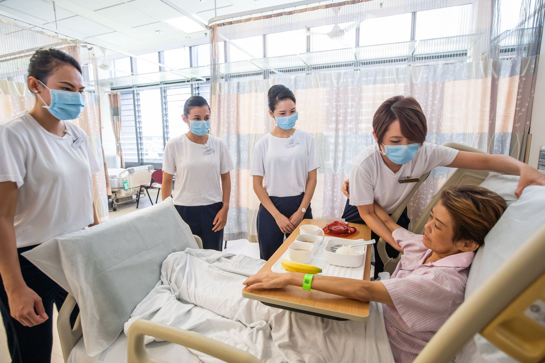 The role of the Patient Care Officers (PCO) was inspired by the Care Ambassadors programme that Singapore Airlines (SIA) and Khoo Teck Puat Hospital (KTPH) jointly launched in April. Photo courtesy: SIA