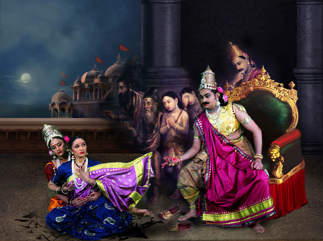 Apsaras Arts uses technology to create a digital production, 'Sita', based on selected paintings of Raja Ravi Verma presented through music and dance. Photo Courtesy: IHC