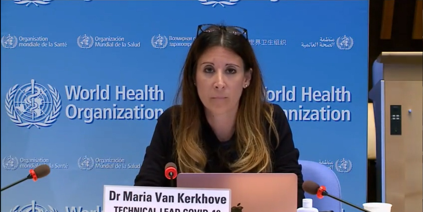 WHO technical lead for COVID-19, Dr Maria Van Kerkhove. Screengrab: Twitter/@WHO