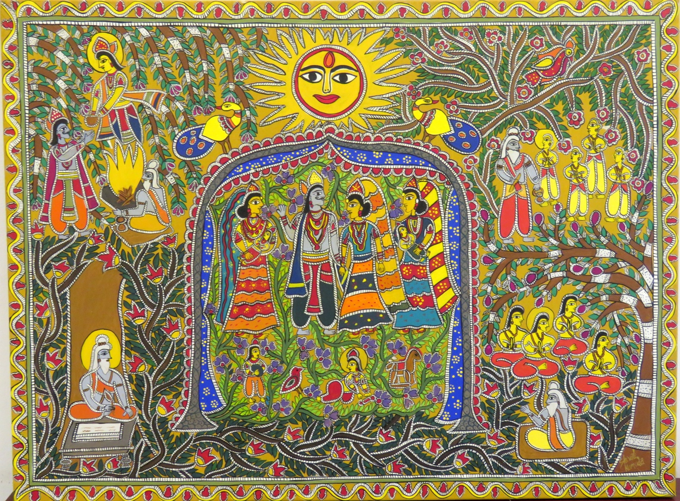 Among the art forms to be explored is a colourful and vibrant art called Madhubani, a school of folk art that originated in the North Eastern regions of India. Photo Courtesy: Stroke Arts