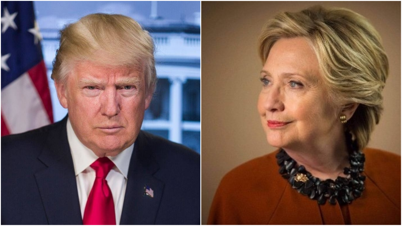Photos courtesy: Facebook/President Donald J Trump and Twitter/@HillaryClinton