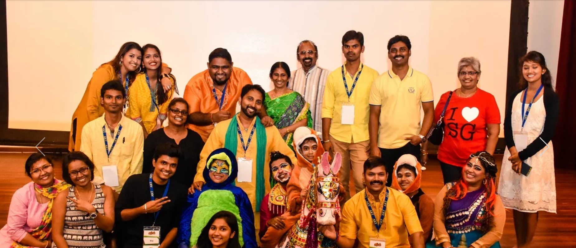 Anandha Kannan -middle row centre - with his AKT family. Photo Courtesy: AKT Creations