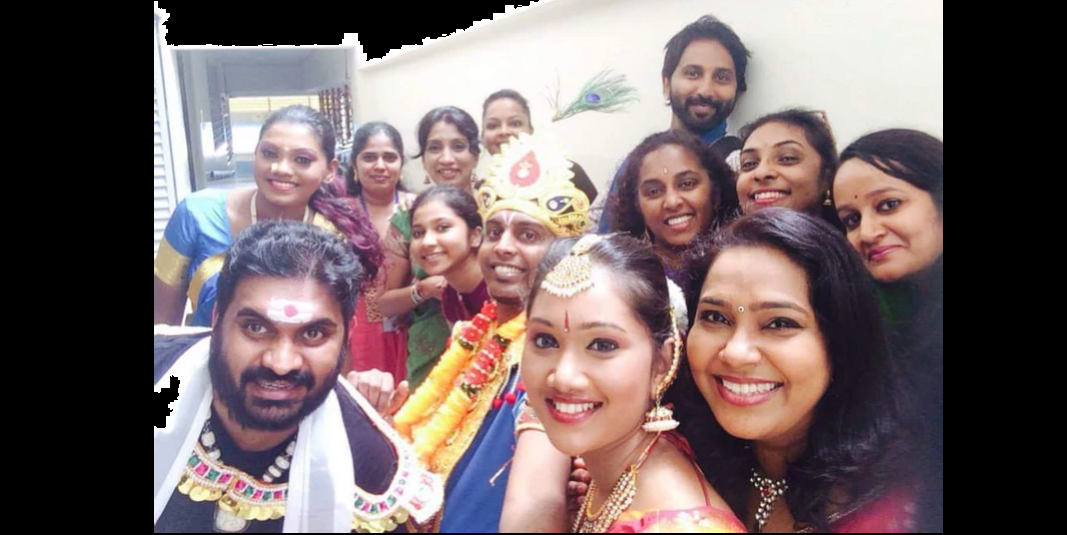 Anandha Kannan (top right) creative and artistic director of AKT with his team. Photo Courtesy: AKT Creations