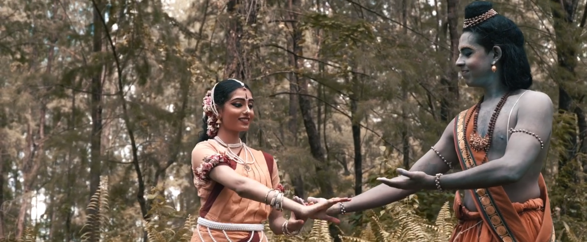 Omkar Arts' The Golden Deer starts with a joyful Rama and Sita in the forest. Photo Courtesy: IHC