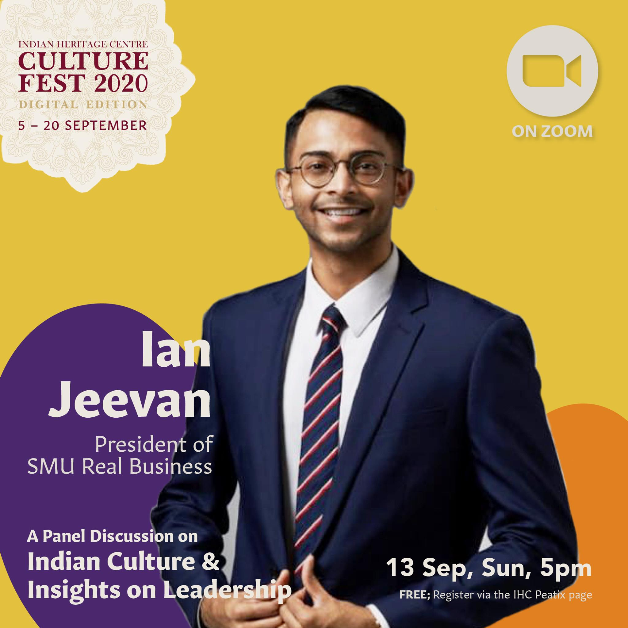 Ian Jeevan Arumugam - is the President of SMU Real Business Club that aims to support and equip budding entrepreneurs. With his own creative videos, Jeevan is an upcoming and growing social media influencer as well. Photo Courtesy: IHC