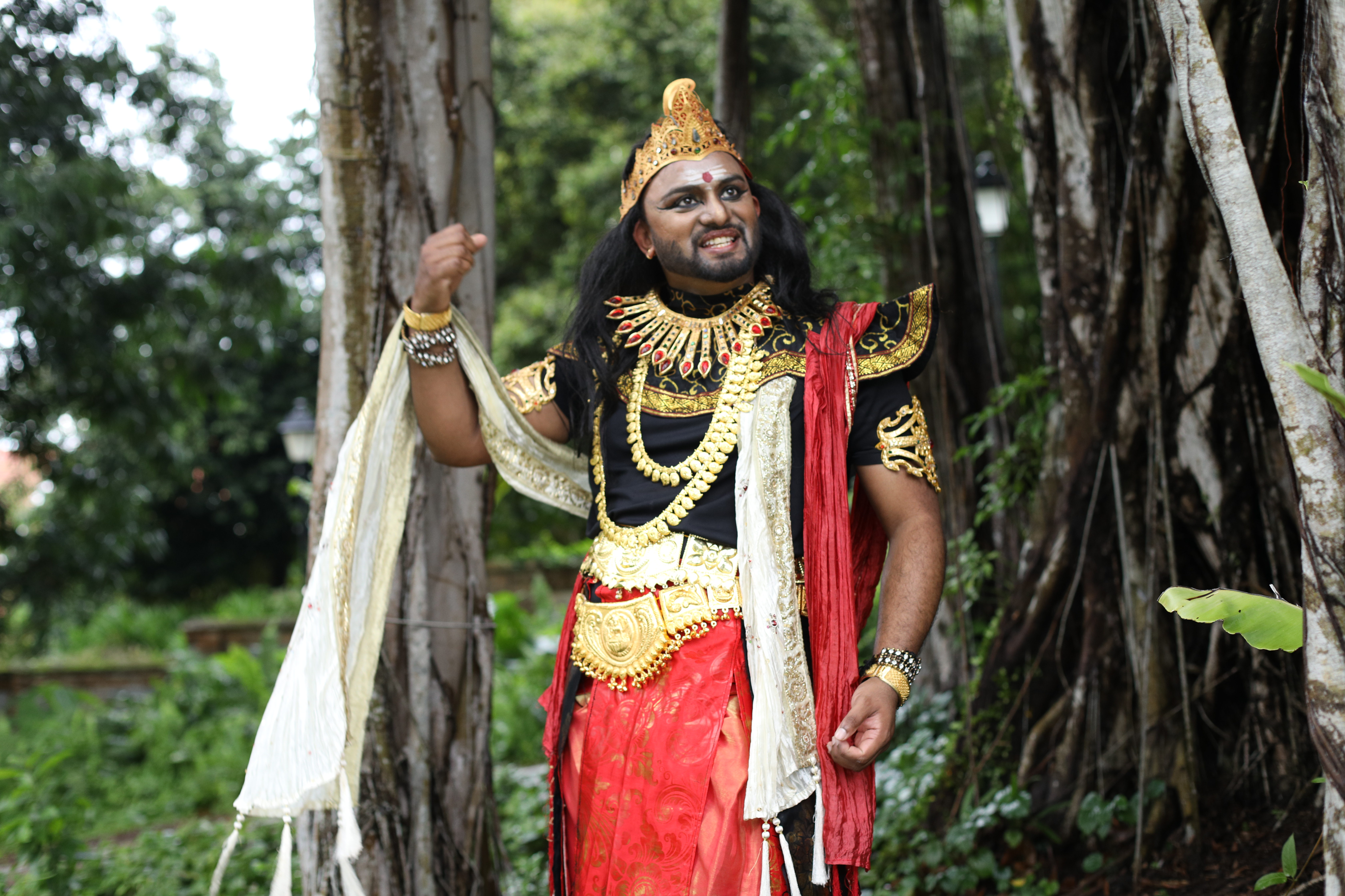Ravana's knowledge, talent, and sheer arrogance inspired Thiru to portray it both in sounds as well as in his character. Photo CourtesyL MDT