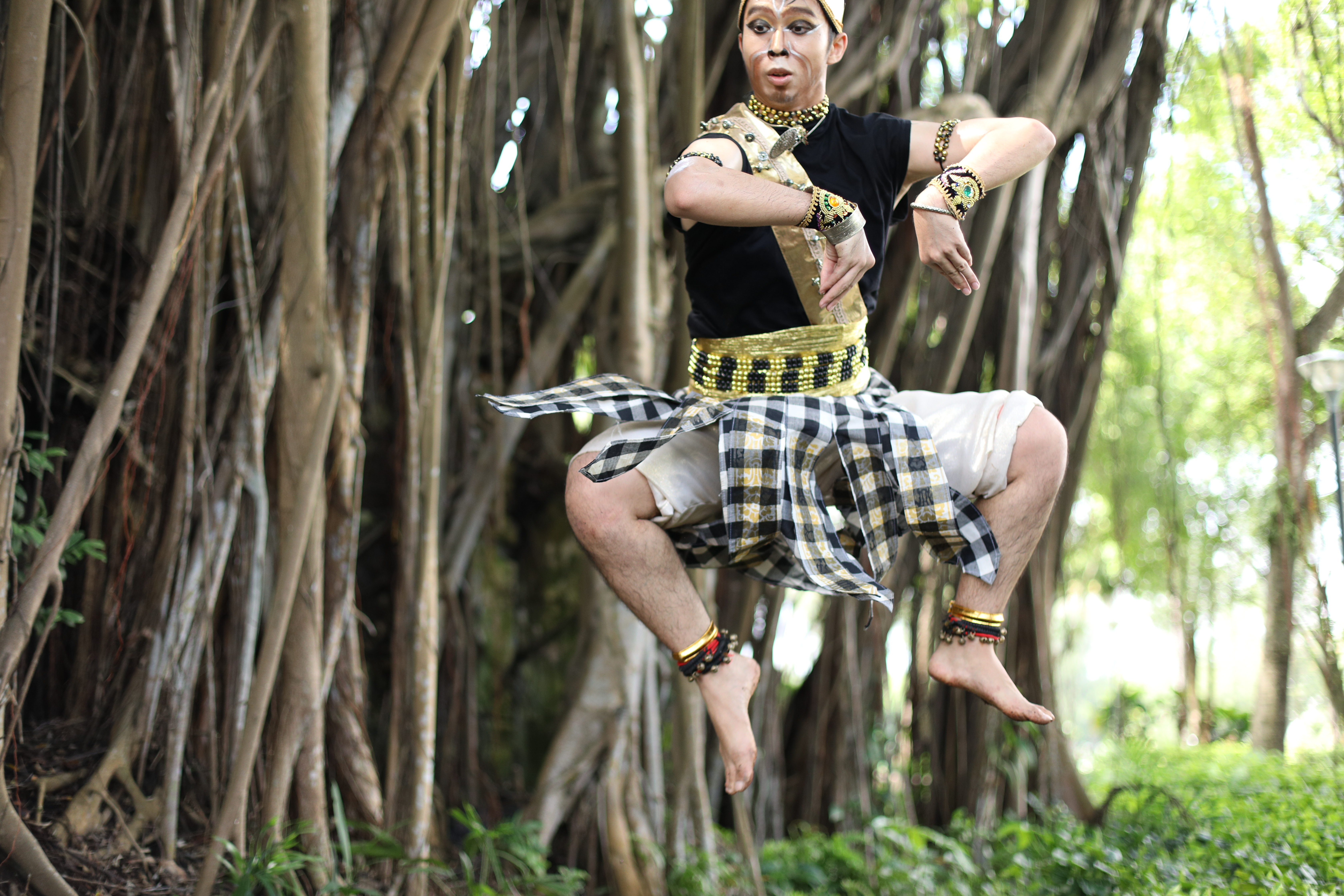 Subastian Tan as Hanuman in Maya Dance Theatres production for Indian Heritage Centre's CultureFest 2020. Photo Courtesy: MDT