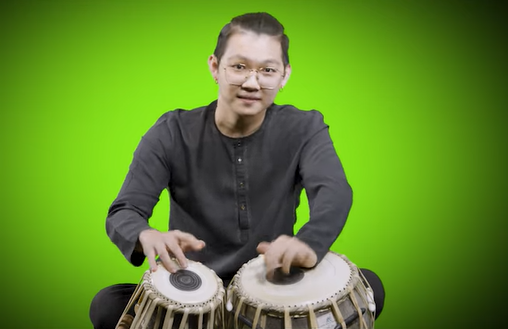 Raavanan Rhapsody was produced by Govin Tan who also played the Tabla. Photo Courtesy: IHC