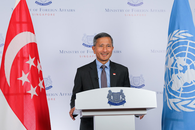 Singapore's Minister for Foreign Affairs Dr Vivian Balakrishnan. Photo courtesy: Ministry of Foreign Affairs