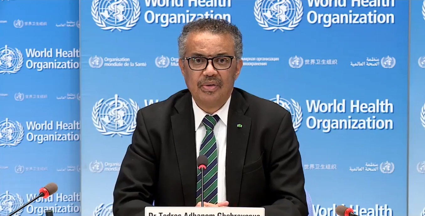 WHO Director-General Tedros Adhanom Ghebreyesus. Photo courtesy: Twitter/@WHO