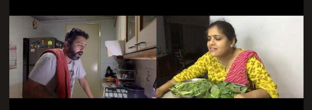 The drama set mostly in the kitchen, boasts a multinational production team from 3 continents and time zones working together to stage it online. Photo Courtesy: Screengrab/Lockdown chya polya