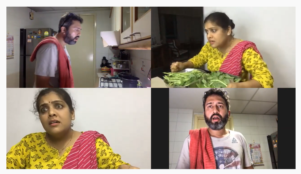 Lockdown chy polya's actors Gautam Marathe and Geetanjali Joshi acted naturally and effortlessly delivered the long dialogues. Photo Courtesy: Screengrab/Lockdown chya polya