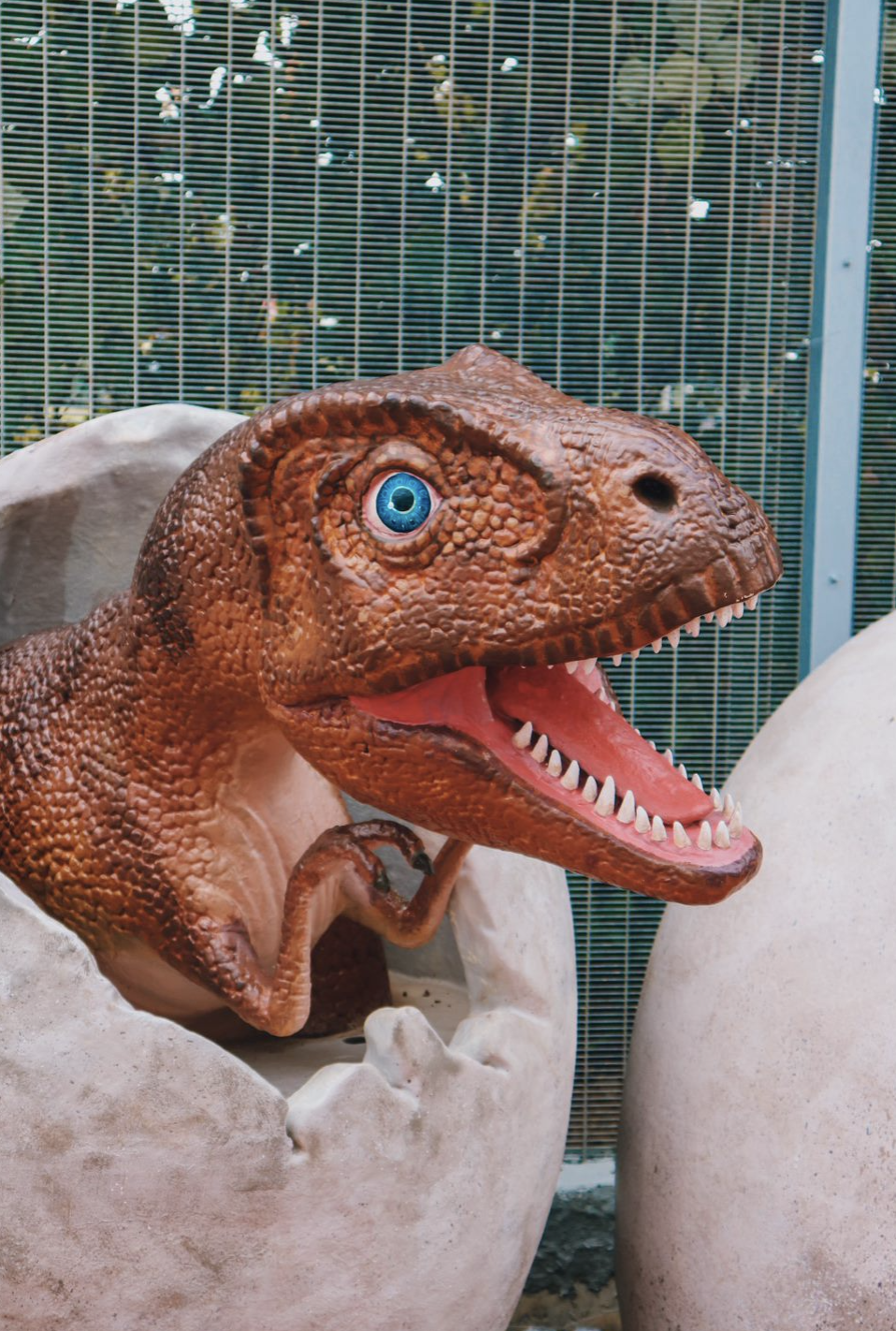 Baby dinosaur and eggs exhibit at Changi Jurassic Mile. Photo courtesy: CAG
