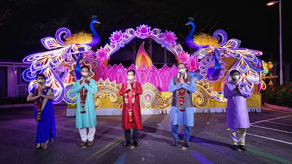 DPM, Heng Swee Keat and Min S. Iswaran at the official inauguration of the Deepavali Lights at Singapore's Little India. Photo Courtesy: S.Iswaran/FB