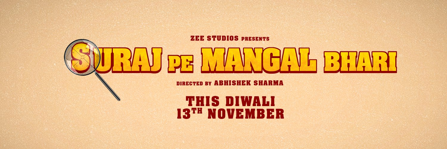 Suraj Pe Mangal Bhaari is scheduled to release theatrically on 13 November 2020, coinciding with Diwali - the festival of lights. Poster Courtesy: Zee Studios/ Twitter