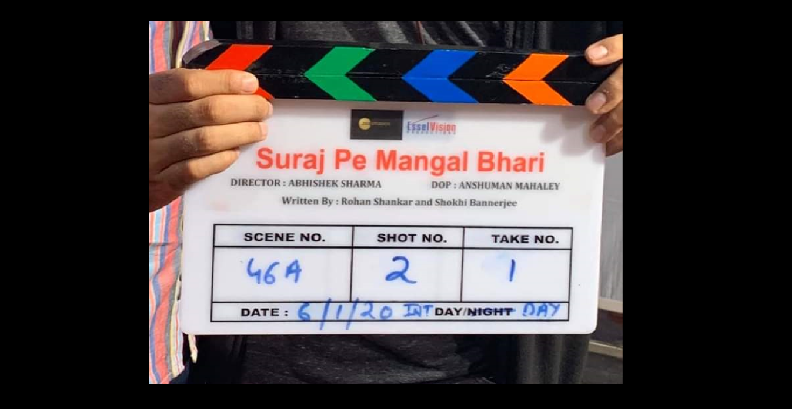 Suraj Pe Mangal Bhaari is directed by Abhishek Sharma and its principal photography began on 6 January 2020. Photo Courtesy: Zee Studios/ Twitter