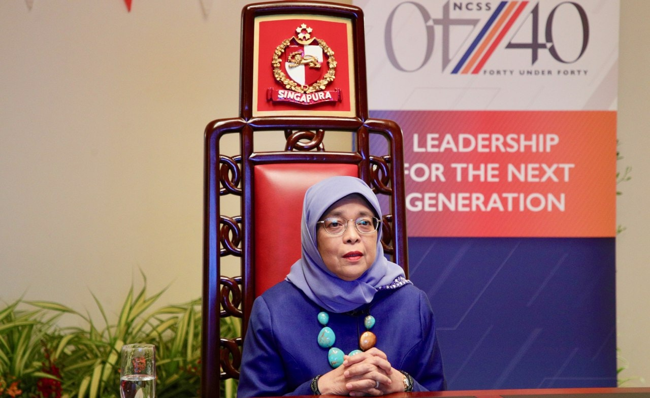 Singapore's President Halimah Yacob ranked 37th most influential Muslim in the world. Photo courtesy: MCI/Ng Siew Chwee