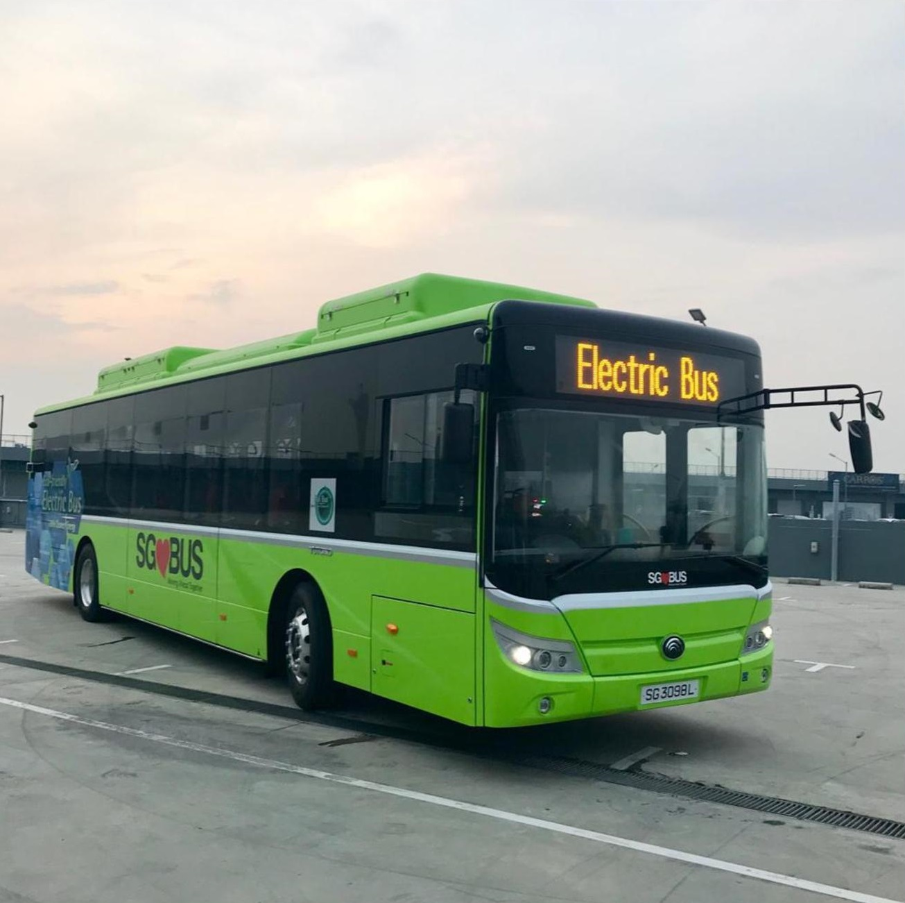 LTA is committing to a 100% cleaner bus fleet by 2040. Photo courtesy: LTA