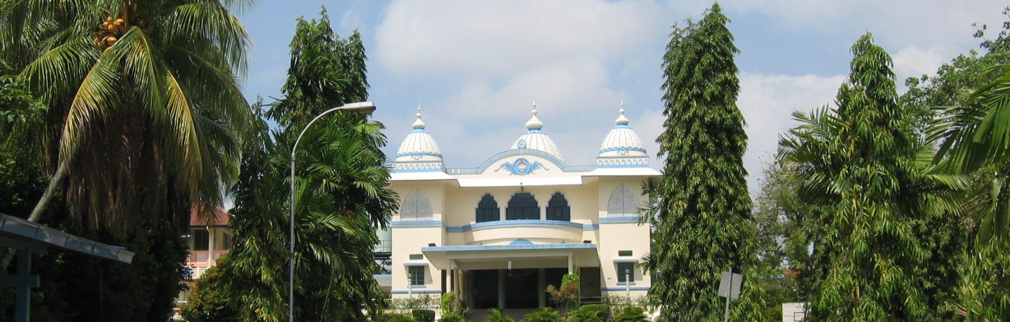 The temple at Ramakrishna Mission. Photo courtesy: ramakrishna.org.sg