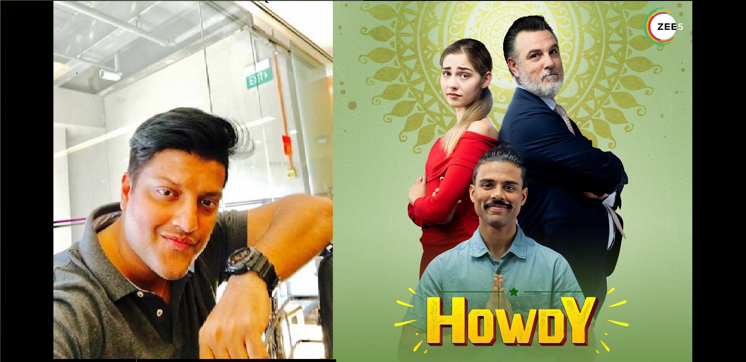 Australian-Malayalee director Jay Janardhan (extreme left), from Thiruvananthapuram now based in Brisbane, Australia is the director of Howdy, a comedy that showcases diversity. Photo Courtesy: ZEE5