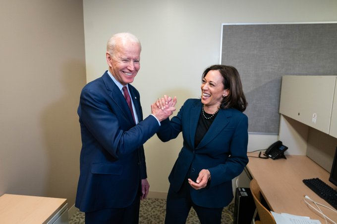 Harris was a presidential aspirant until last year before she dropped out of the race.