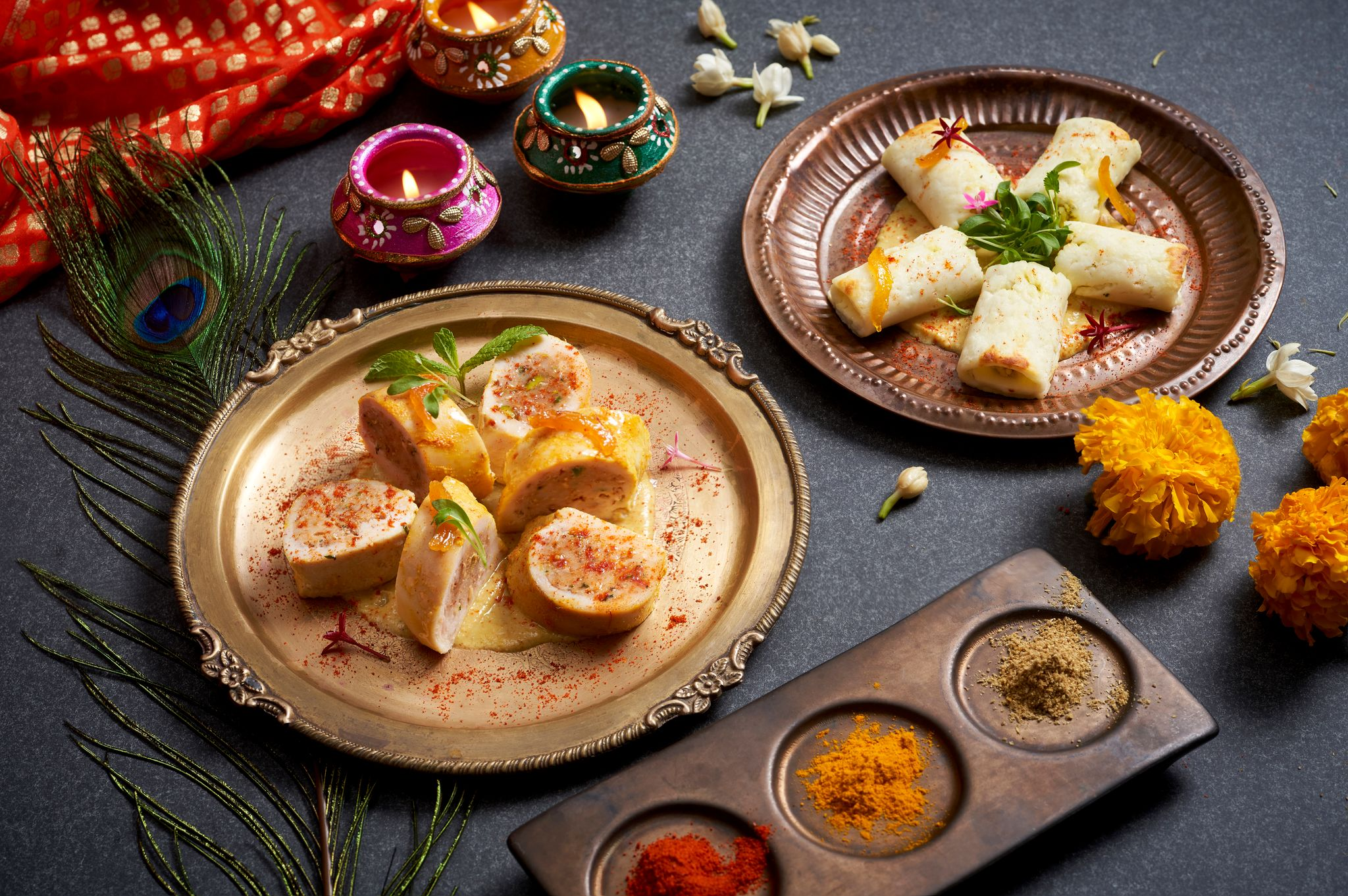 An equally exquisite vegetarian option will also be offered as part of the Diwali experience menu. Photo credit Raffles Hotel Singapore