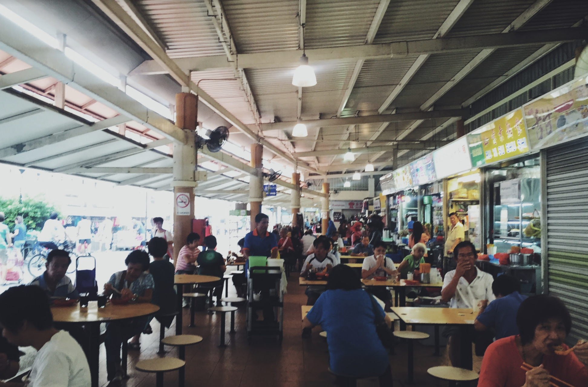 Hawker centres are integral to the social fabric of Singapore. Photo: Connected to India