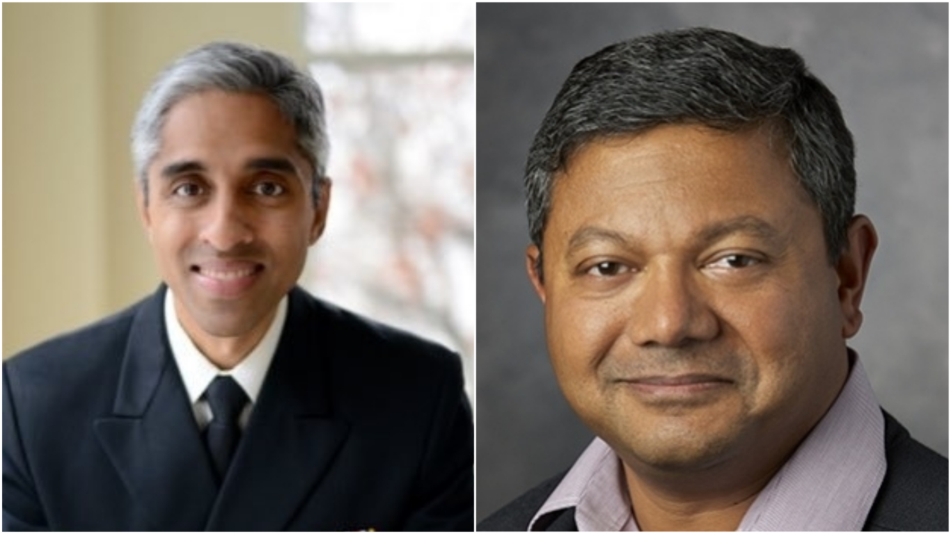 Dr Vivek Murthy (left) and Professor Arun Majumdar (right). Photos courtesy: Twitter/@vivek_murthy and www.stanford.edu