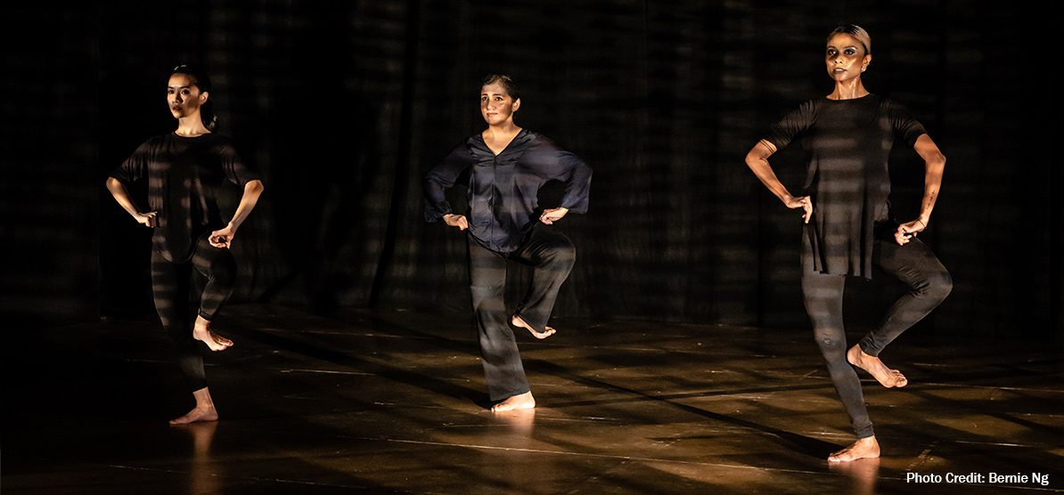 Pallavi and  Space uses the basic stance in Odissi, the chowka. Photo Courtesy: Esplanade