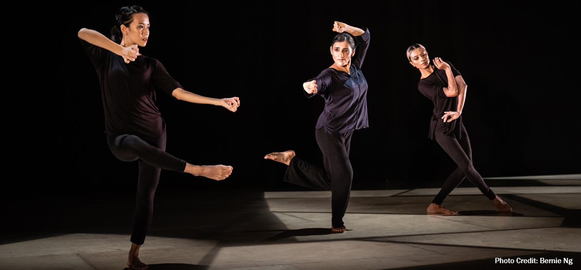 Pallavi in time explores the 'tribhanga' or the three bends of the body in Odissi. Photo Courtesy: Esplanade