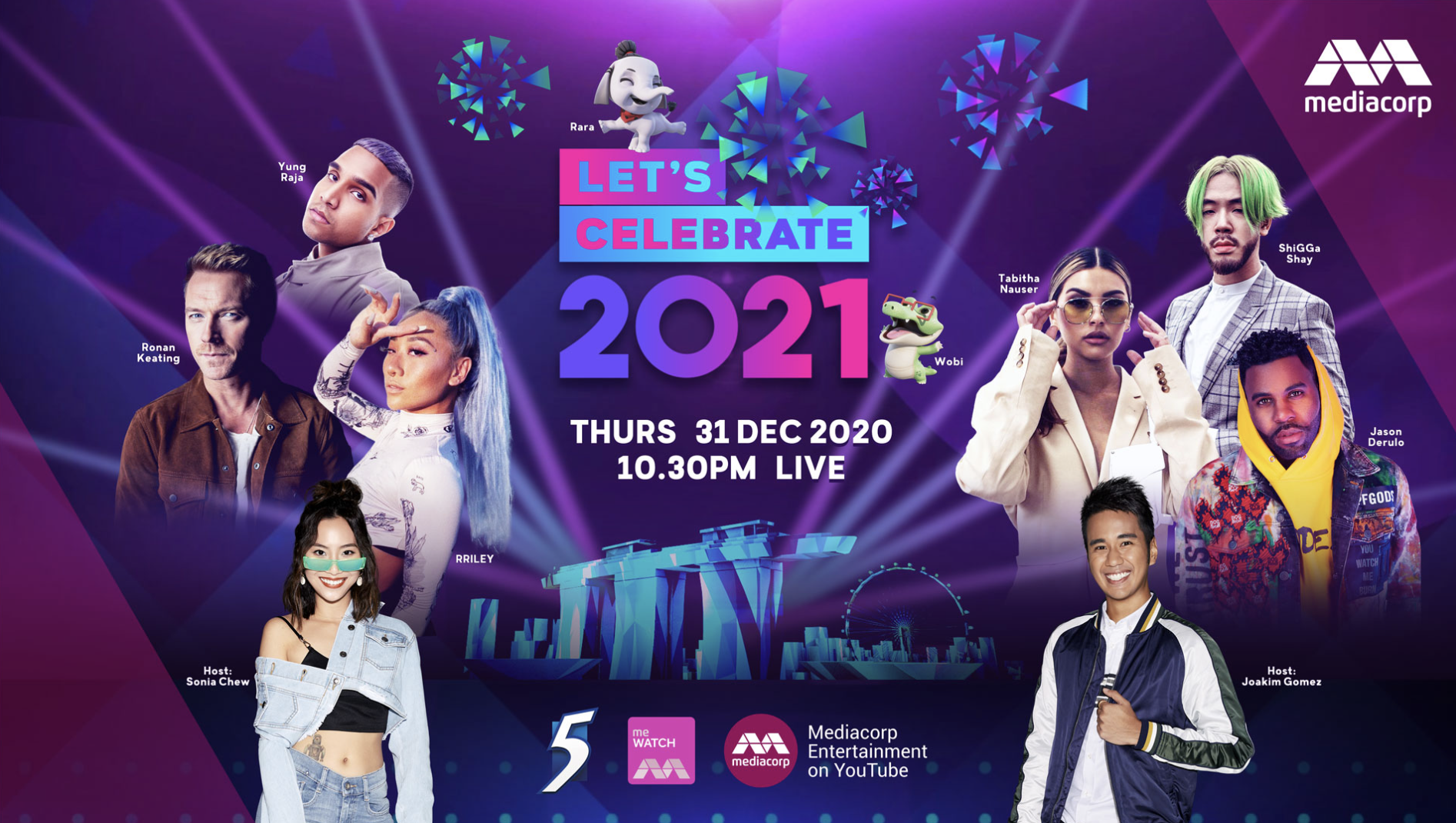 Ring in the new year on a high note with Let's Celebrate 2021. Photo courtesy: Mediacorp